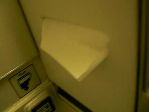 Toilet flush on a British Airways 747 between London and New Delhi