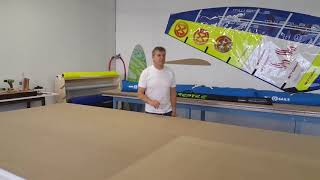 How to rig softwing windsurfing sail.