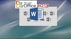 Word 2013 Tutorial - Part 1 for Professionals and Students