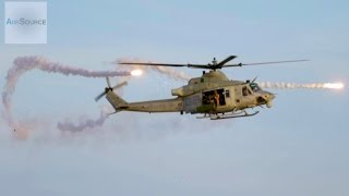 U.S. Marine Super Hueys Helicopter In Action - Urban Town Attack