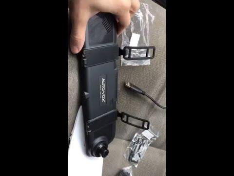 AutoVox M6 TouchScreen Rear-View Mirror Dash Cam - Quick Installation & Review