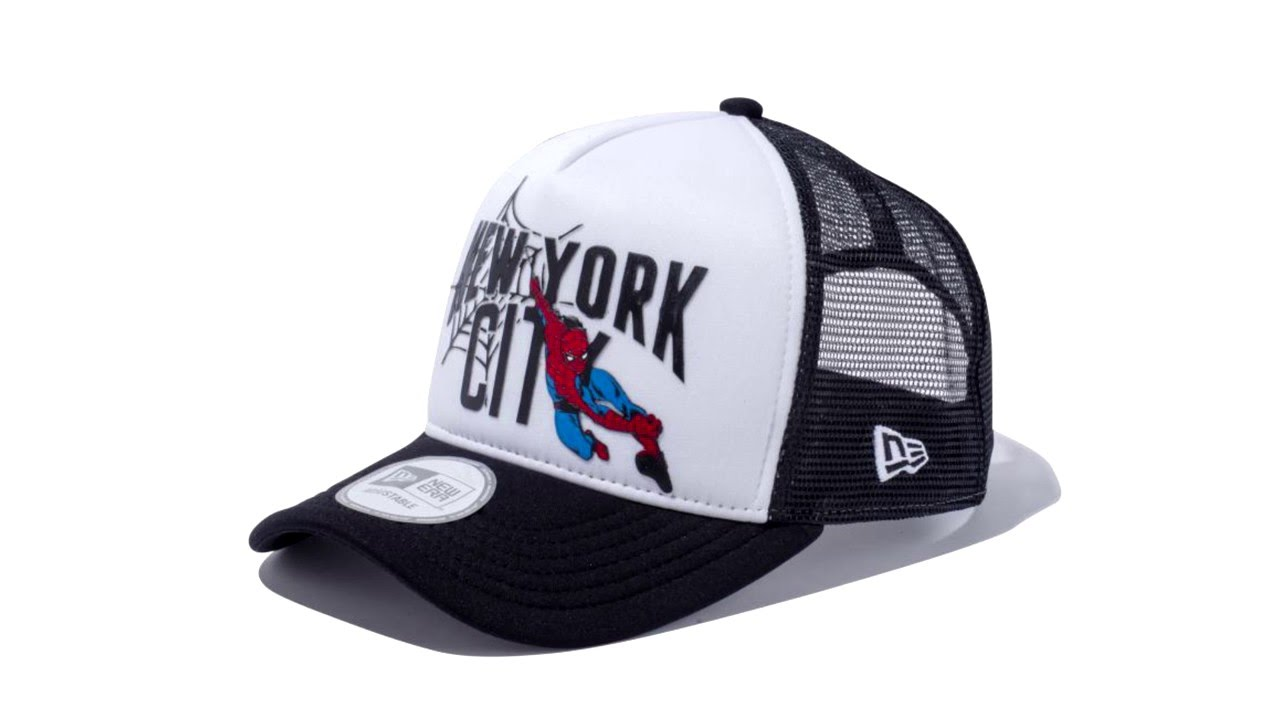8d1eb0bc ... greece new era spider man nyc 9forty d frame trucker cap 9c087 8be86