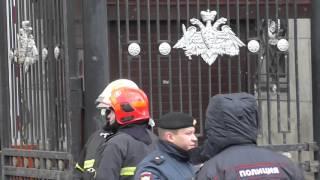 Пожар в Москве. Горит здание Министерства Обороны РФ.