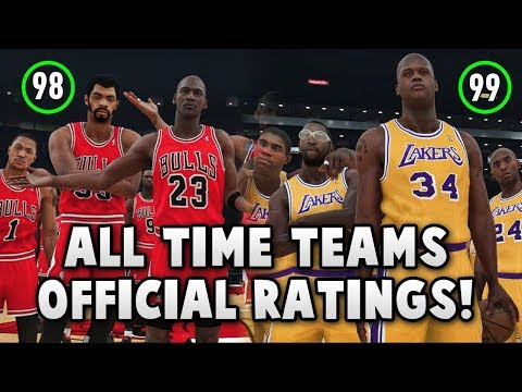 ALL NBA 2K18 ALL TIME TEAMS RATINGS REVEALED!! (OFFICIAL RATINGS)