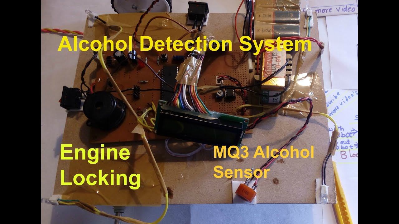alcohol detection system for drunken drivers with engine locking youtube. Black Bedroom Furniture Sets. Home Design Ideas