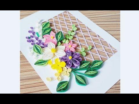 DIY Paper Quilling Flower For beginner Learning video 29 // Paper Quilling Flower Card