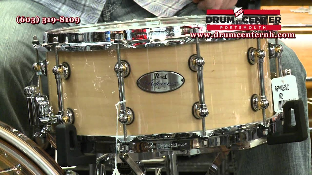 pearl reference pure 14x6 5 snare drum natural maple youtube. Black Bedroom Furniture Sets. Home Design Ideas