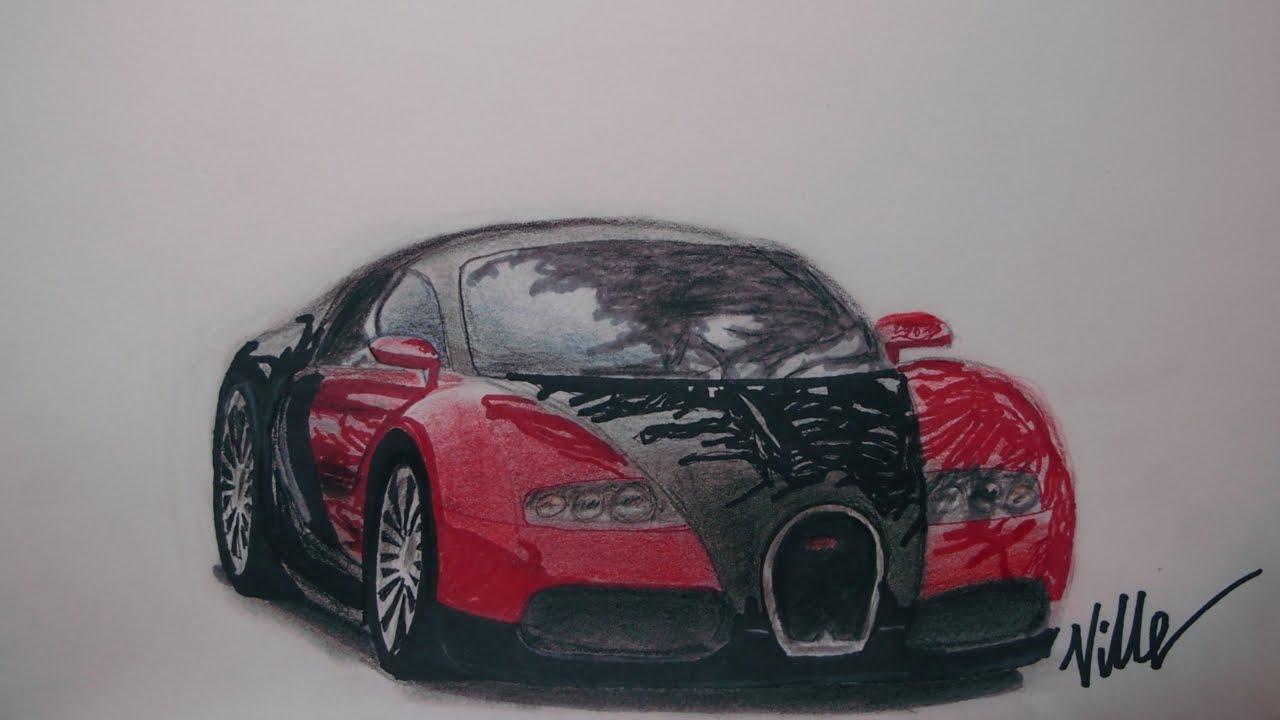Bugatti Veyron Speed Drawing Youtube