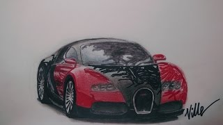 Bugatti Veyron Speed Drawing