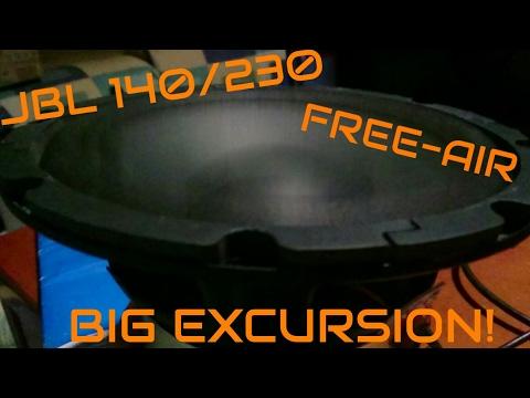jbl sub 140 230 excursion test youtube. Black Bedroom Furniture Sets. Home Design Ideas