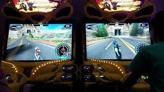 2 Player Super Bikes 2 Motorcycle Racing Arcade Game!