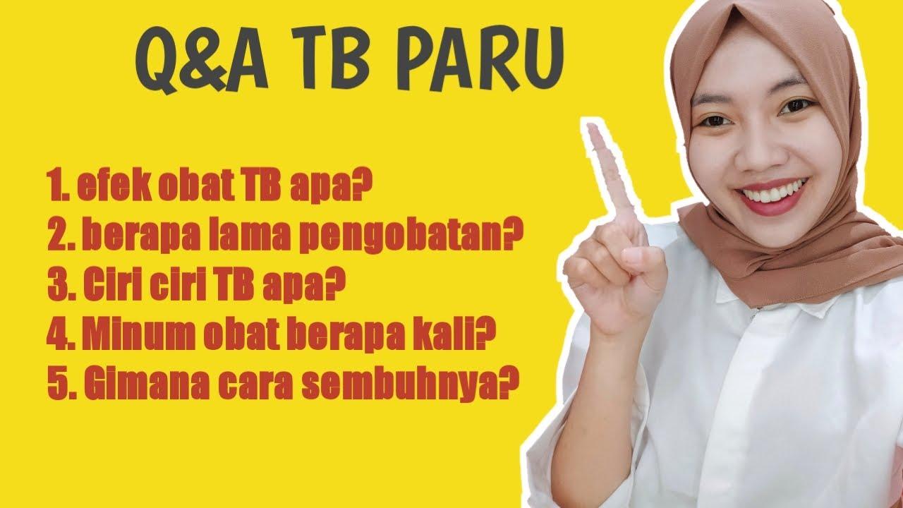 CARA PENGOBATAN TB PARU   EFEK SAMPING OAT (OBAT TB)
