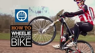 How to wheelie a mountain bike  - with Tracy Moseley