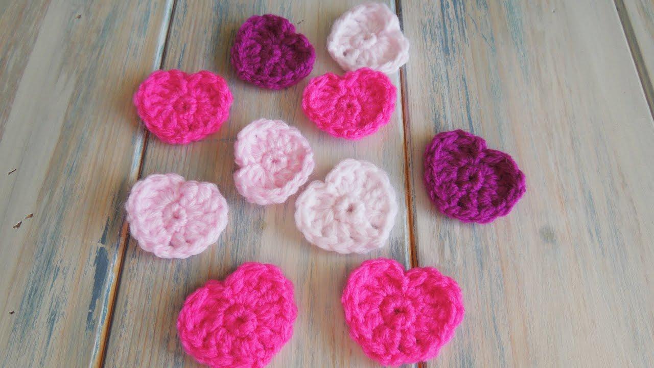 crochet) How To - Crochet a Simple Heart v2 - no magic circle! - YouTube