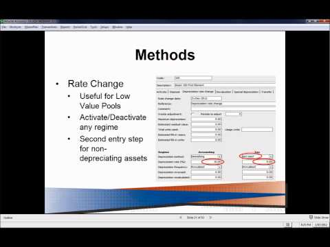 Advanced Fixed Assets - 3 Key methods in Attaché Fixed Assets