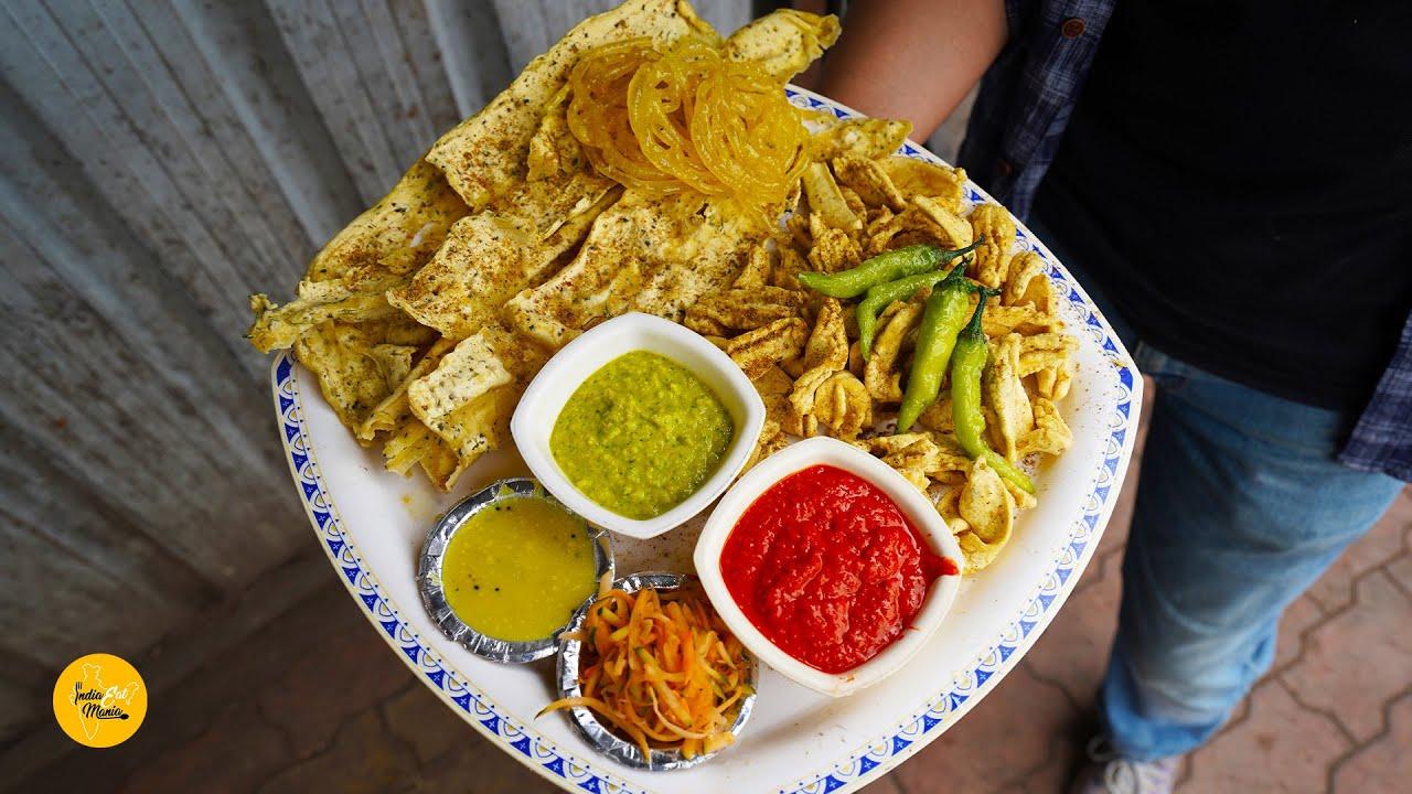 Ultimate Gujarati Breakfast Thali (Specially Kasoori Methi Fafda) Rs 35/- Only l Surat Street Food