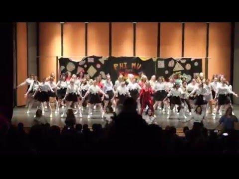 Phi Mu Nicholls State University Songfest 2016 - Phi Mu Travels Back In Time