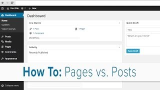 How to Understand Pages vs Posts