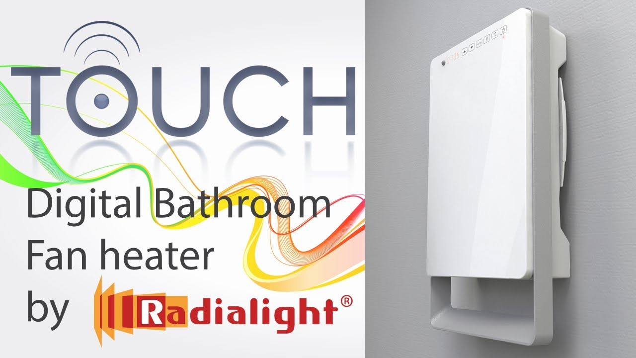 Great Digital Bathroom Fan Heater   Touch By Ermete Giudici S.p.A.   YouTube