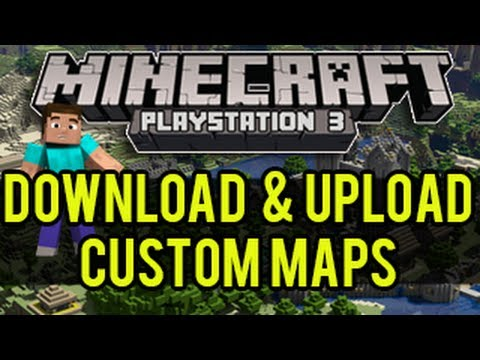 Minecraft PSPS How To Download Upload Custom Maps Custom - Wie downloade ich maps fur minecraft