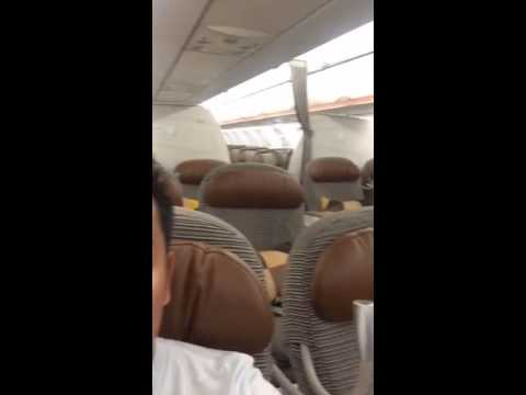 Only passenger on the plane Etihad Airways EY310 Kuwait City to Abu Dhabi Business Class KWI-AUH