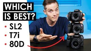 Best Canon DSLR for Video? — Canon SL2 VS. T7i VS. 80D
