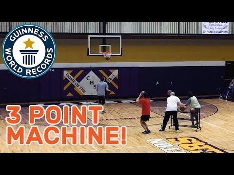 Most basketball three pointers in two minutes – Guinness World Records