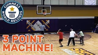Most basketball three pointers in two minutes - Guinness World Records