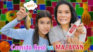 COMIDA REAL VS COMIDA DE MAZAPAN   AnaNana TOYS