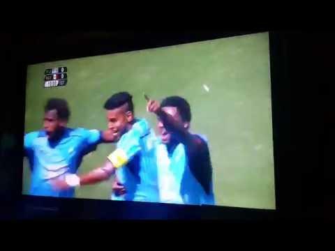 Roy Krishna goal... Fiji 1-0 Mexico