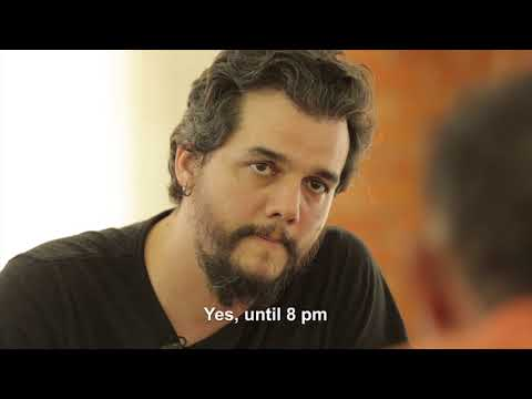 Wagner Moura facetoface with victims of modern slavery