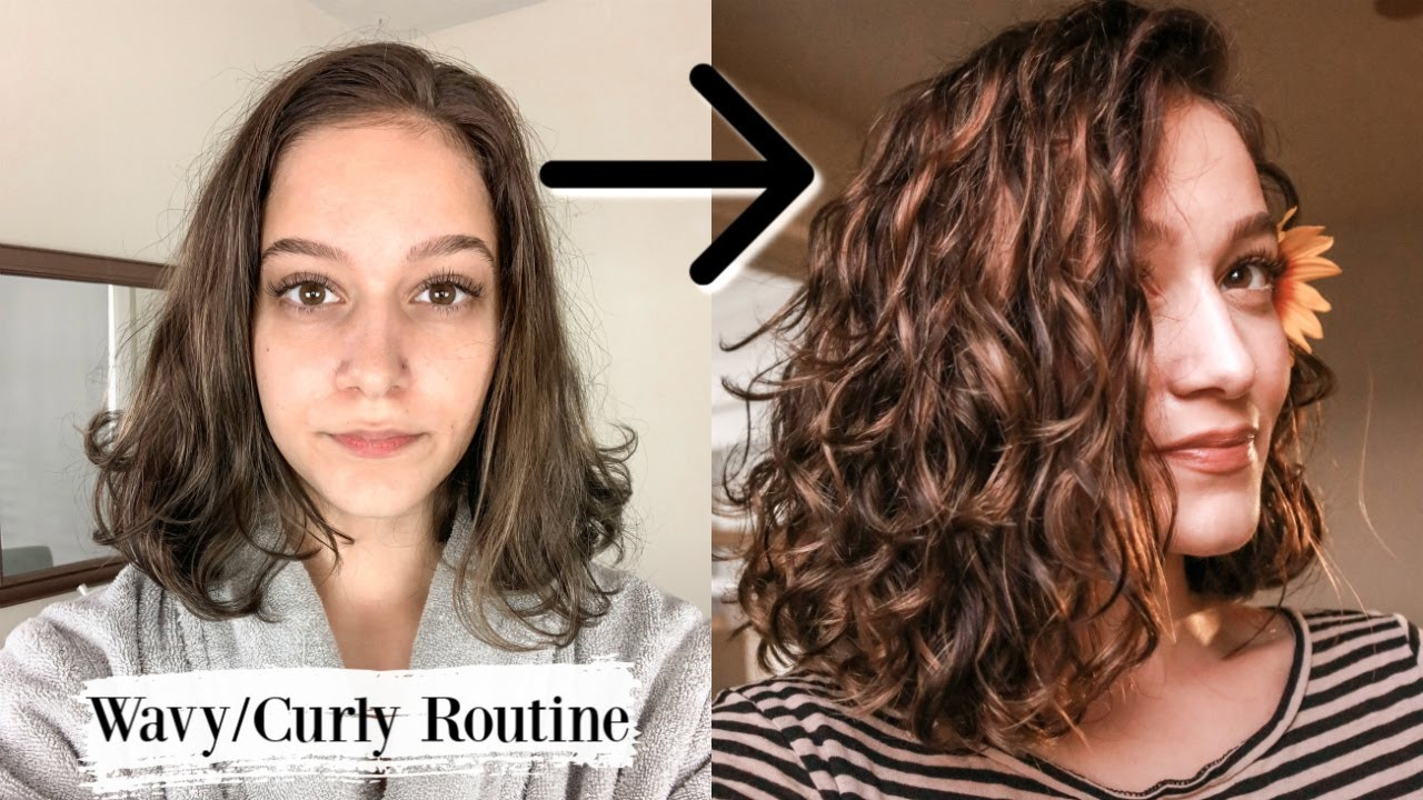 My Current Styling Routine For Wavy Hair Type 2a 2b 2c Youtube