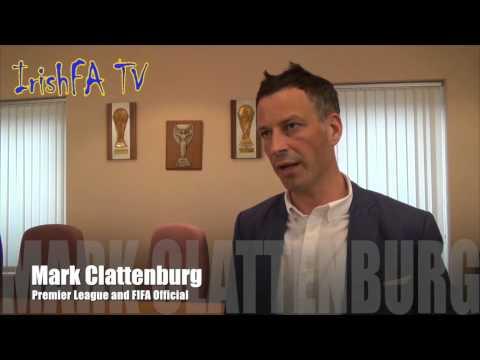Mark Clattenburg at the Irish FA