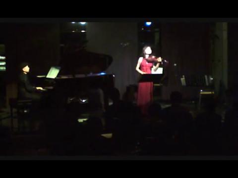 ①カサブランカCasablanca②リエーブルLièvre(荒井桃子Momoko Arai, Violin/金益研二 Kenji Kanemasu, Piano)