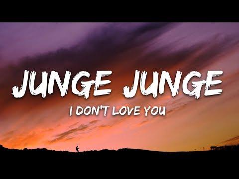 Junge Junge - I Don't Love You (I'm Just Lonely) (Lyrics / Lyric Video)