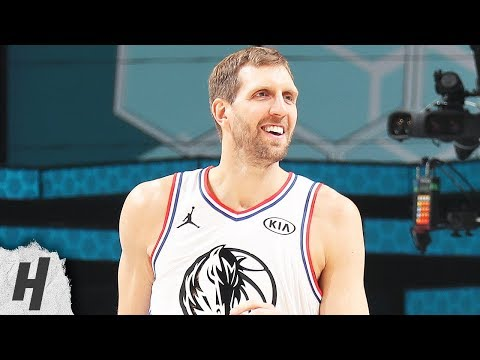 Dirk Nowitzki Checks In And Makes Two CRAZY Threes | February 17, 2019 NBA All-Star Game