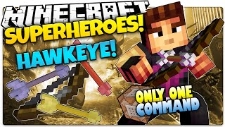 Minecraft | How To Be A Superhero! | HAWKEYE! | Only One Command (One Command Creation)
