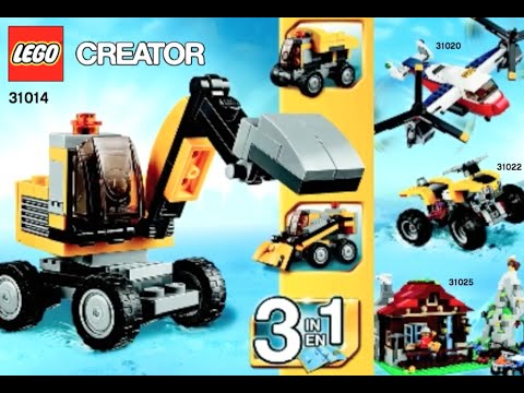 How To Build Lego Power Digger 31014 Creator 3 In 1 Instructions