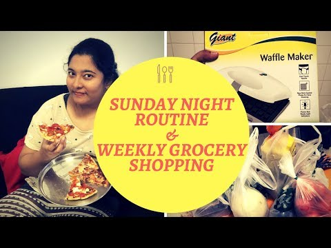 Essential Sunday Night Routine & Weekend Grocery Shopping 2018 in TAMIL | Living in SINGAPORE |