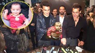 salman khan best birthday party 2016 with sister arpitas cute son aahil at panvel farmhouse