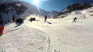 Terrifying Ski Collision