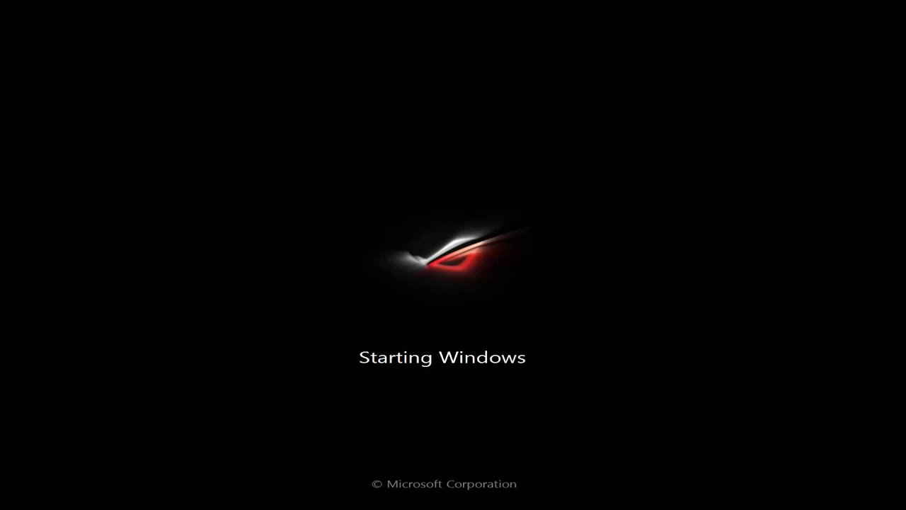 Windows 7 Custom Bootskin: Republic Of Gamers