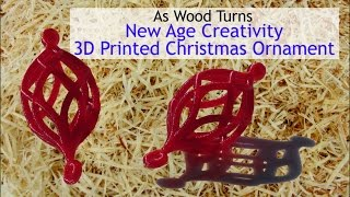 New Age Creativity - 3d Printed Christmas Ornament