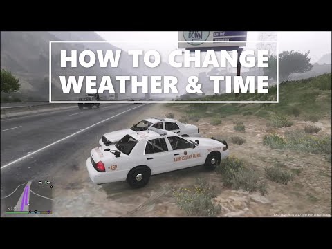 LSPDFR on Patrol with Officer ufo1(how to change weather & time)