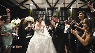 Lebanese Bride and Italian Groom Entry to Lebanese Zaffet!
