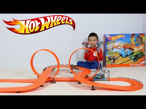 Hot Wheels Biggest Electric Slot Car Track Set Unboxing Testing Fun With Ckn Toys