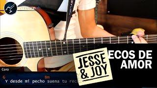 Como tocar Ecos de Amor JESSE & JOY en Guitarra Acordes Guitarra thumbnail