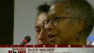 Author Alice Walker Joins U.S. Aid Ship to Confront Israeli Naval Blockade of Gaza