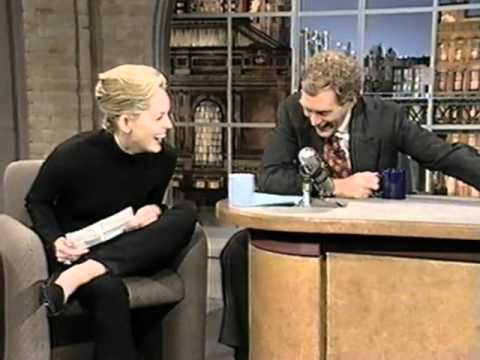 Sharon Stone on Late Show (1994)