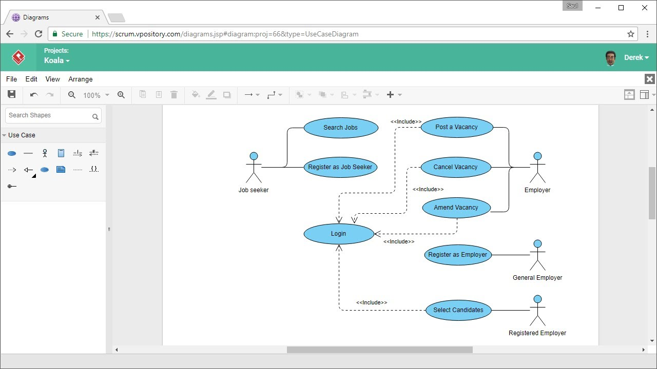 how to draw use case diagram online [ 1280 x 720 Pixel ]